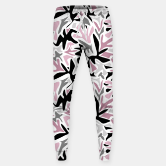 Thumbnail image of abstract, daub pink, gray and pink, geometric Sweatpants, Live Heroes