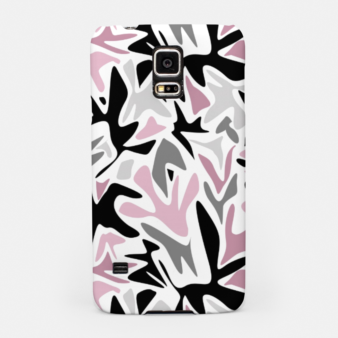 Image of abstract, daub pink, gray and pink, geometric Samsung Case - Live Heroes