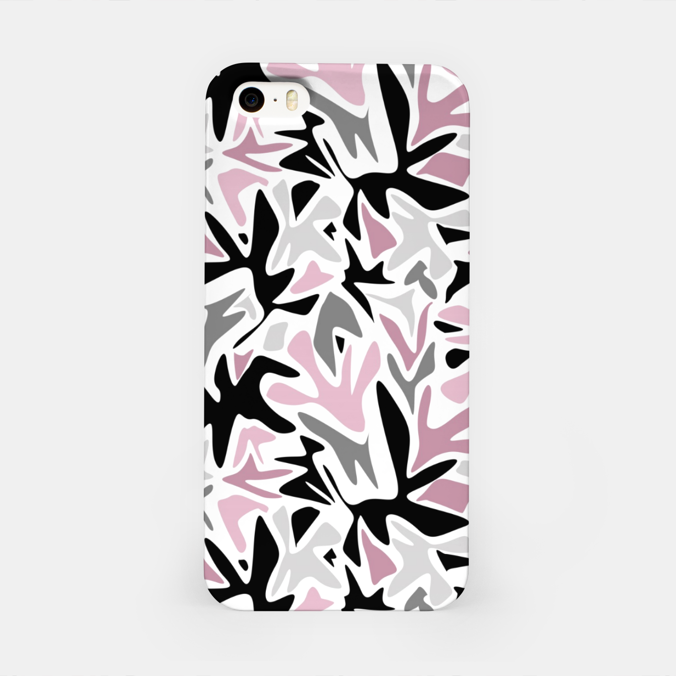 Image of abstract, daub pink, gray and pink, geometric iPhone Case - Live Heroes