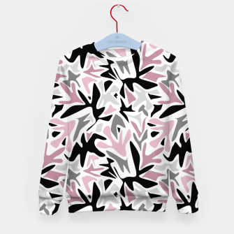Thumbnail image of abstract, daub pink, gray and pink, geometric Kid's sweater, Live Heroes