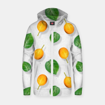 Thumbnail image of Passion fruit and leaf by #Bizzartino Zip up hoodie, Live Heroes