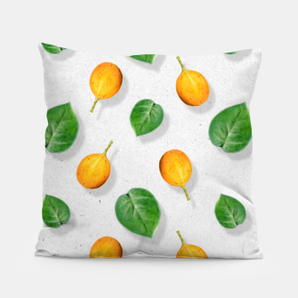 Thumbnail image of Passion fruit and leaf by #Bizzartino Pillow, Live Heroes