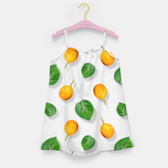 Thumbnail image of Passion fruit and leaf by #Bizzartino Girl's dress, Live Heroes