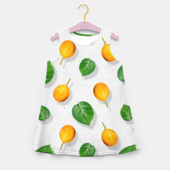 Thumbnail image of Passion fruit and leaf by #Bizzartino Girl's summer dress, Live Heroes