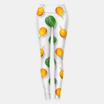 Thumbnail image of Passion fruit and leaf by #Bizzartino Leggings, Live Heroes