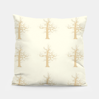 Miniatur Brown dry trees pattern Pillow, Live Heroes