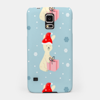 Thumbnail image of Xmas bunny on blue Samsung Case, Live Heroes