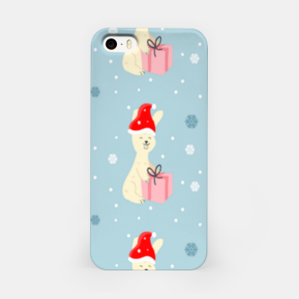 Thumbnail image of Xmas bunny on blue iPhone Case, Live Heroes