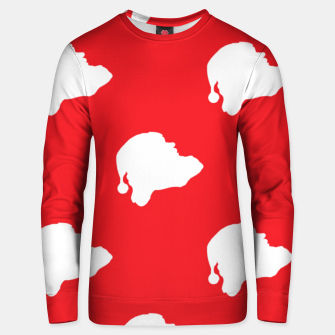 Thumbnail image of Santa Claus on red Unisex sweater, Live Heroes