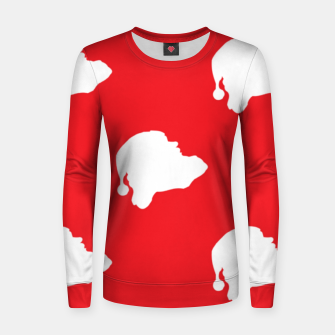 Thumbnail image of Santa Claus on red Women sweater, Live Heroes