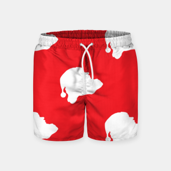 Thumbnail image of Santa Claus on red Swim Shorts, Live Heroes