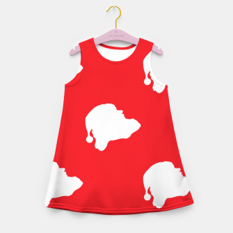 Thumbnail image of Santa Claus on red Girl's summer dress, Live Heroes