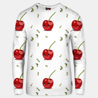Thumbnail image of Red cherry fruit kawaii pattern Unisex sweater, Live Heroes