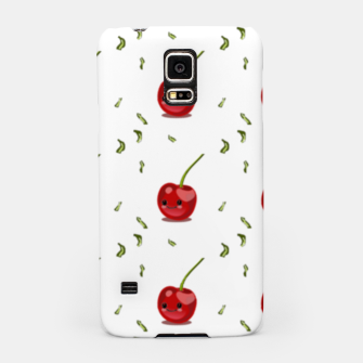Thumbnail image of Red cherry fruit kawaii pattern Samsung Case, Live Heroes
