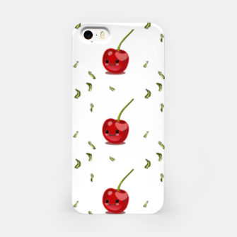 Thumbnail image of Red cherry fruit kawaii pattern iPhone Case, Live Heroes