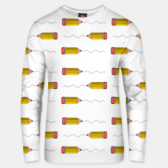 Thumbnail image of Pencil scrabble lines Unisex sweater, Live Heroes