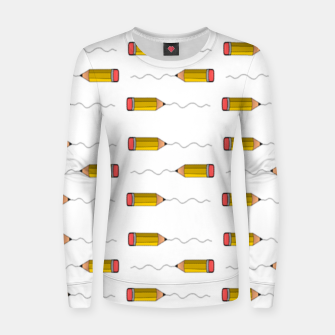 Thumbnail image of Pencil scrabble lines Women sweater, Live Heroes