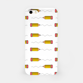 Thumbnail image of Pencil scrabble lines iPhone Case, Live Heroes