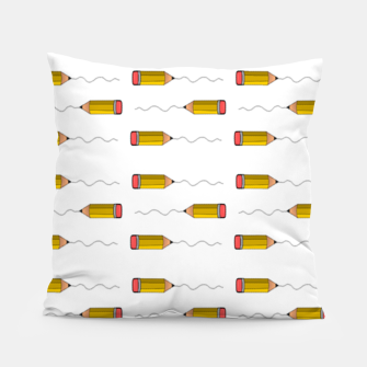 Thumbnail image of Pencil scrabble lines Pillow, Live Heroes