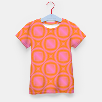 Thumbnail image of Gradient pink pattern Kid's t-shirt, Live Heroes