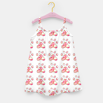 Thumbnail image of Pink dog paws Girl's dress, Live Heroes