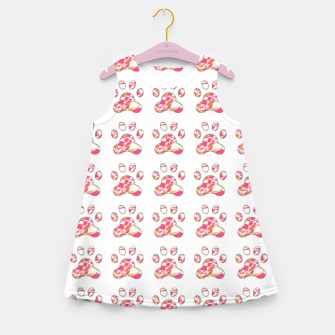 Thumbnail image of Pink dog paws Girl's summer dress, Live Heroes