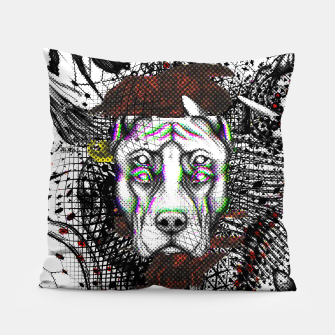 Thumbnail image of Bad Dog Glitch Pillow, Live Heroes