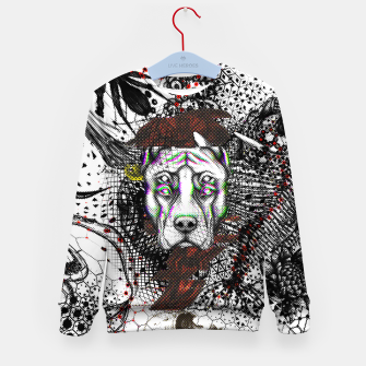 Thumbnail image of Bad Dog Glitch Kid's sweater, Live Heroes