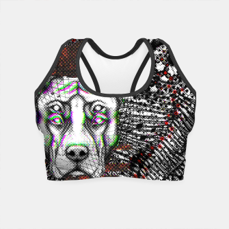 Thumbnail image of Bad Dog Glitch Crop Top, Live Heroes