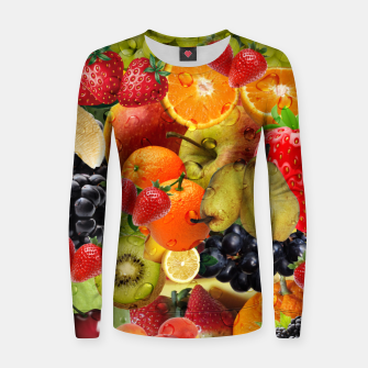 Thumbnail image of FRUIT IS LIFE Women sweater, Live Heroes
