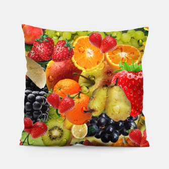 Thumbnail image of FRUIT IS LIFE Pillow, Live Heroes