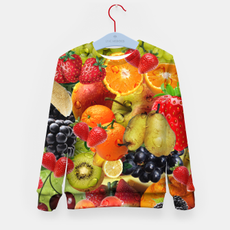 Thumbnail image of FRUIT IS LIFE Kid's sweater, Live Heroes