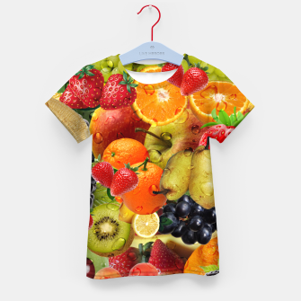 Thumbnail image of FRUIT IS LIFE Kid's t-shirt, Live Heroes