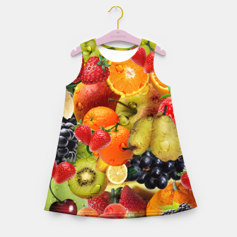 Thumbnail image of FRUIT IS LIFE Girl's summer dress, Live Heroes