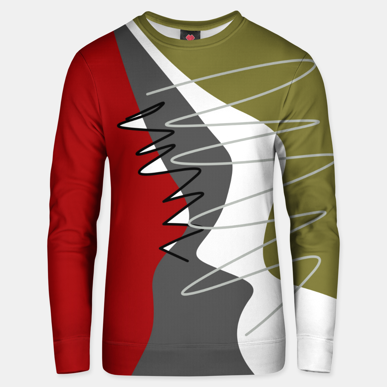 Image of abstract trendy multicolored pattern Unisex sweater - Live Heroes