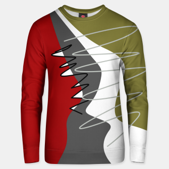 Thumbnail image of abstract trendy multicolored pattern Unisex sweater, Live Heroes