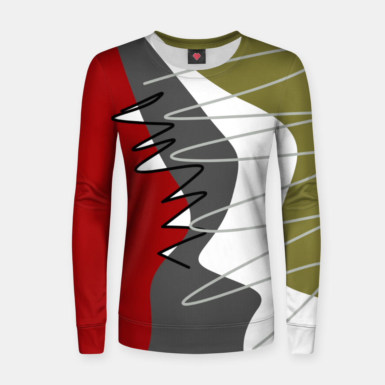 Image of abstract trendy multicolored pattern Women sweater - Live Heroes