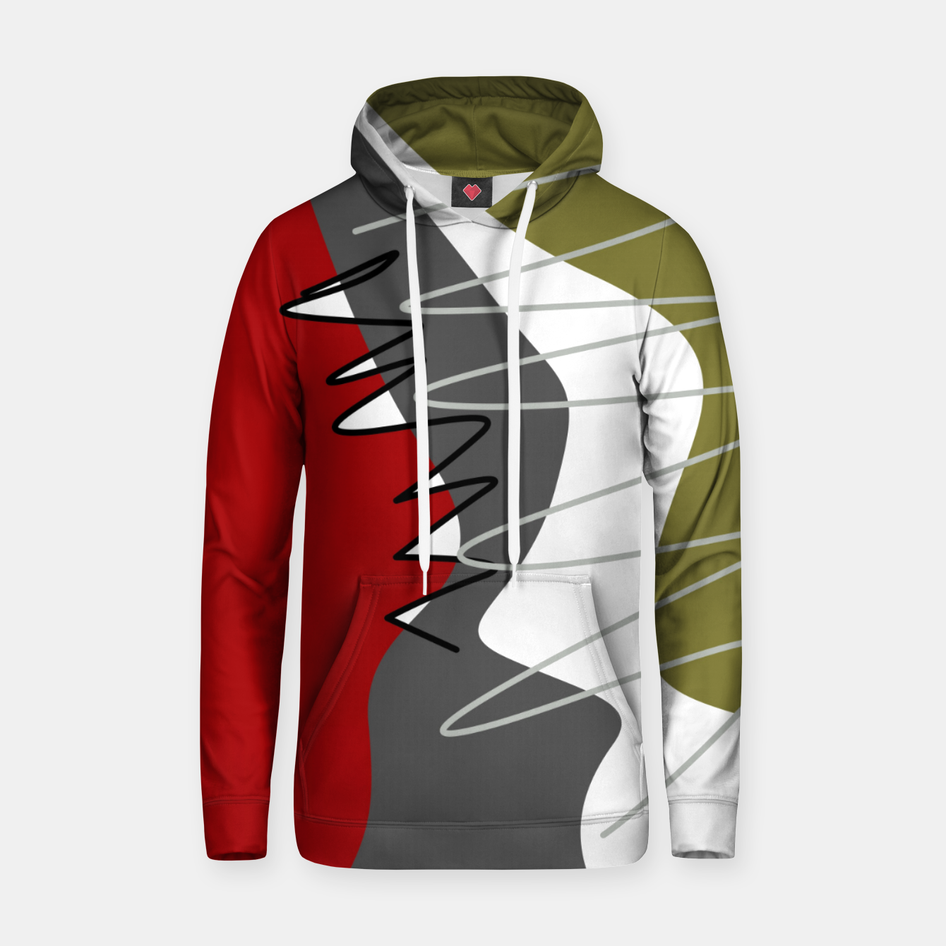 Image of abstract trendy multicolored pattern Hoodie - Live Heroes