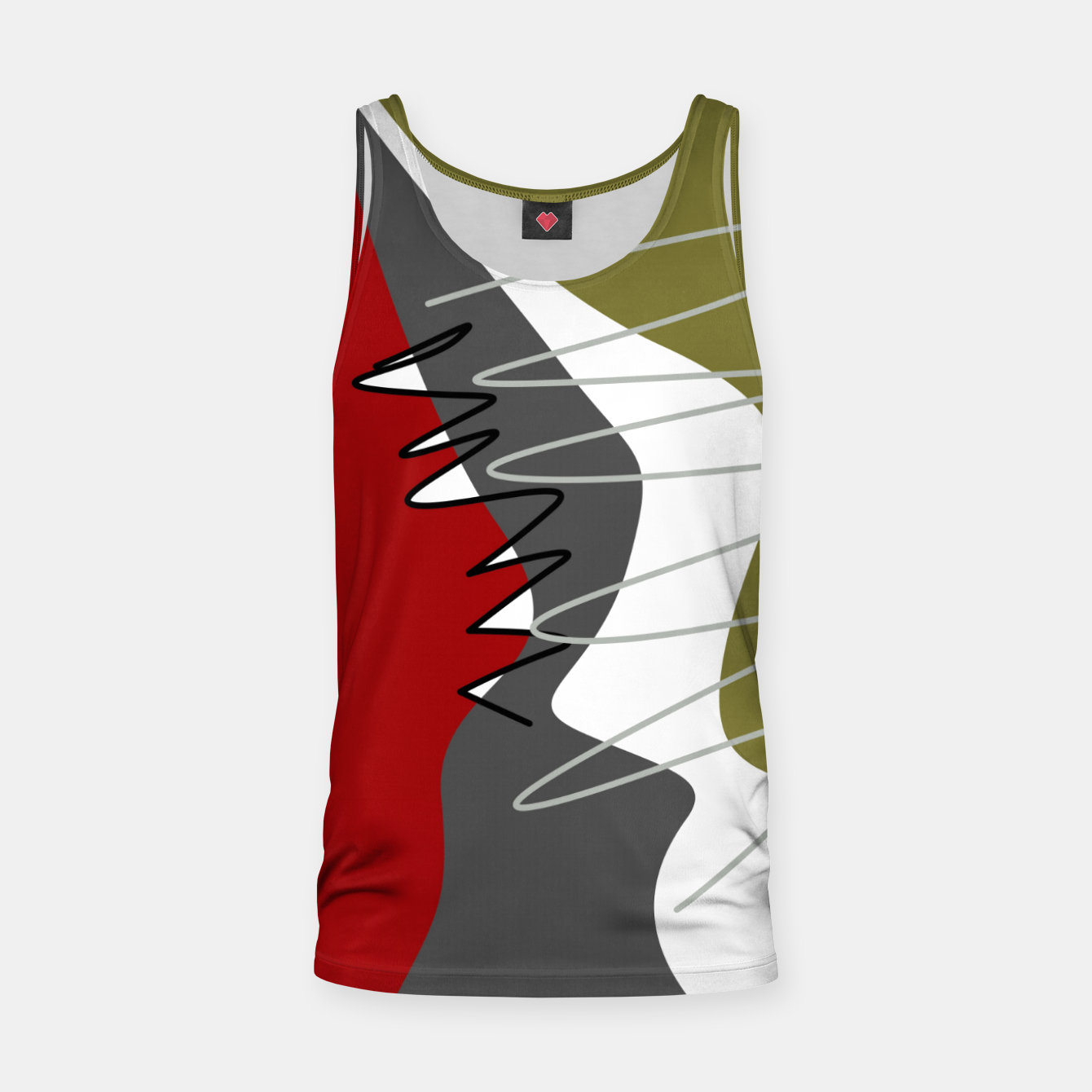 Image of abstract trendy multicolored pattern Tank Top - Live Heroes