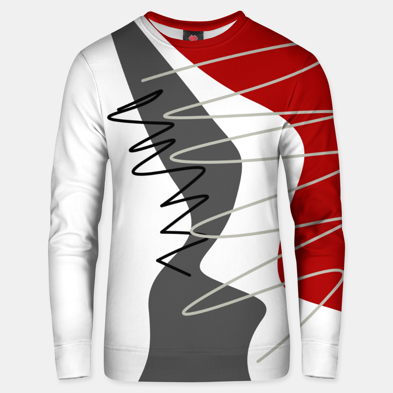 Image of  trendy  multicolored pattern  Unisex sweater - Live Heroes