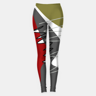 Thumbnail image of abstract trendy multicolored pattern Leggings, Live Heroes