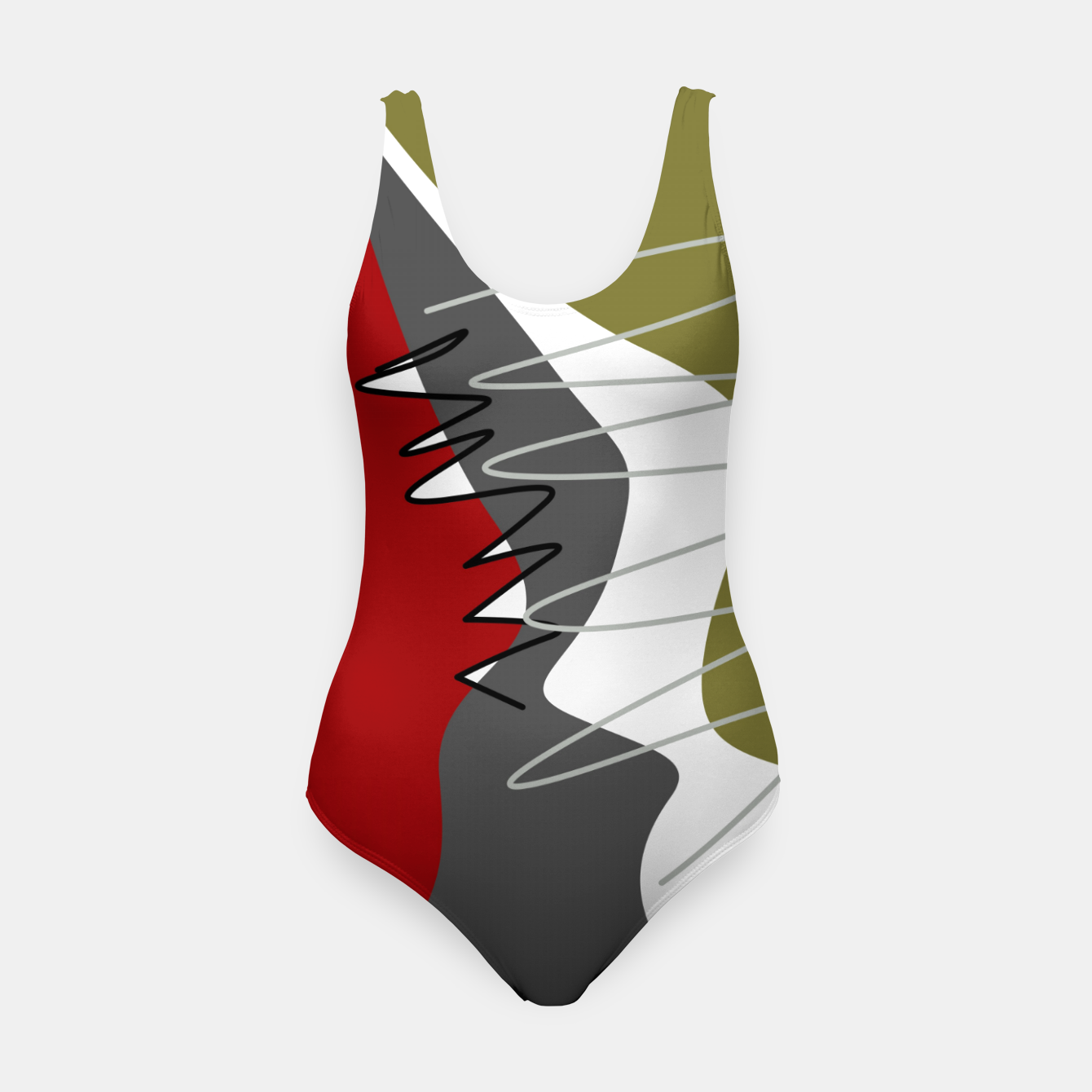 Image of abstract trendy multicolored pattern Swimsuit - Live Heroes