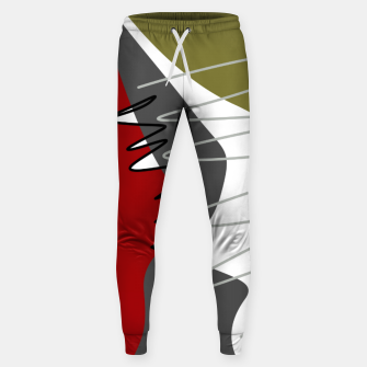 Thumbnail image of abstract trendy multicolored pattern Sweatpants, Live Heroes