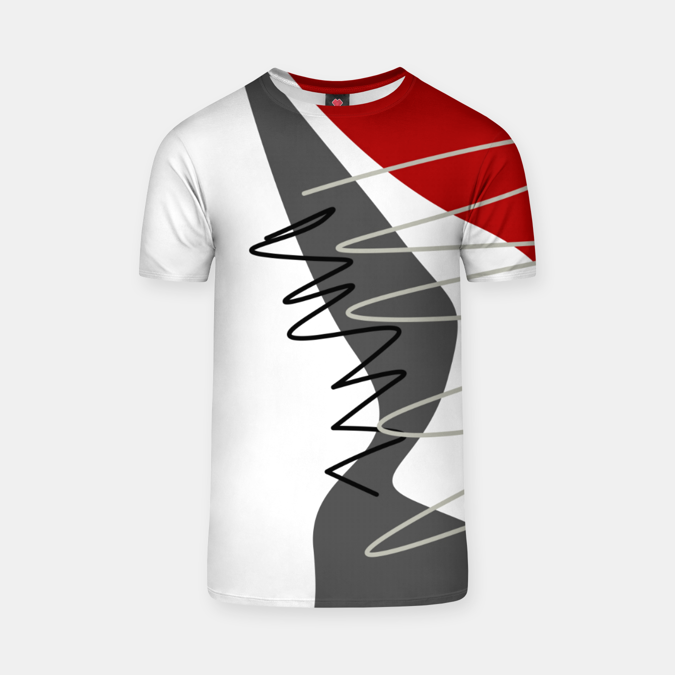 Image of  trendy  multicolored pattern  T-shirt - Live Heroes