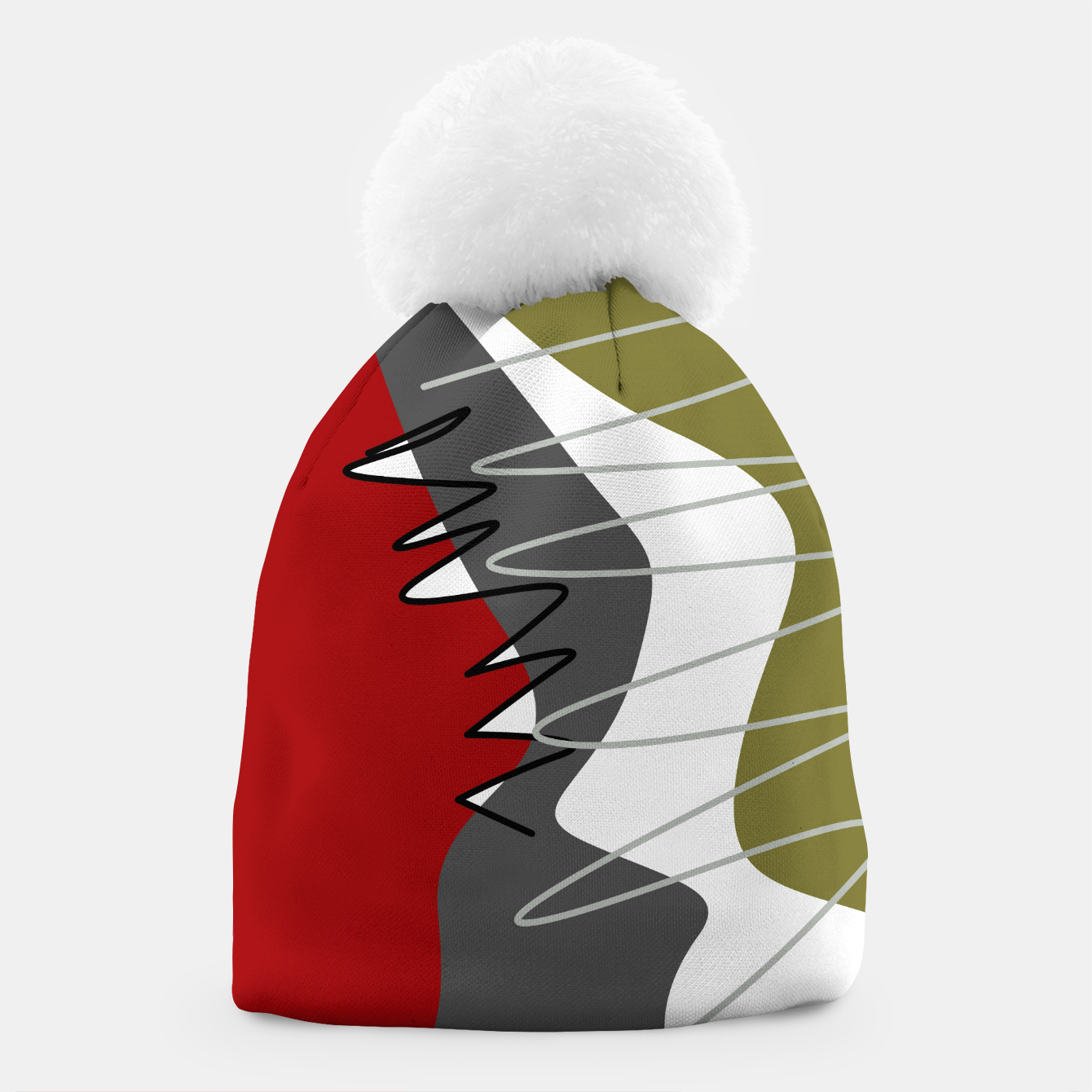 Image of abstract trendy multicolored pattern Beanie - Live Heroes