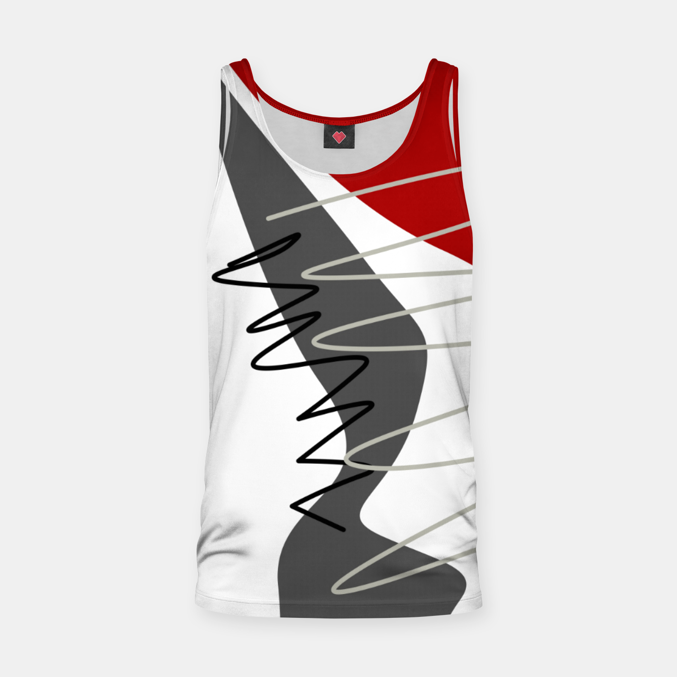 Image of  trendy  multicolored pattern  Tank Top - Live Heroes