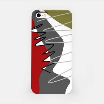 Thumbnail image of abstract trendy multicolored pattern iPhone Case, Live Heroes