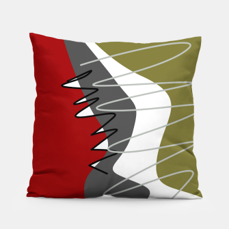 Thumbnail image of abstract trendy multicolored pattern Pillow, Live Heroes
