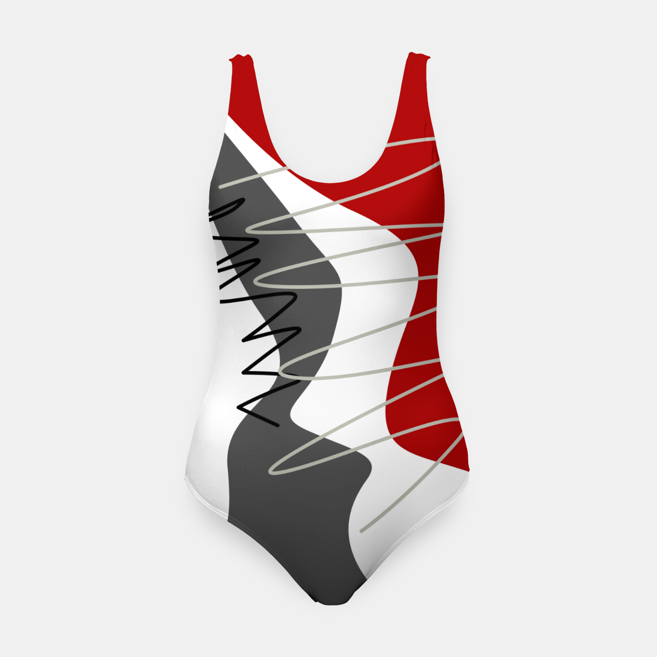 Image of  trendy  multicolored pattern  Swimsuit - Live Heroes