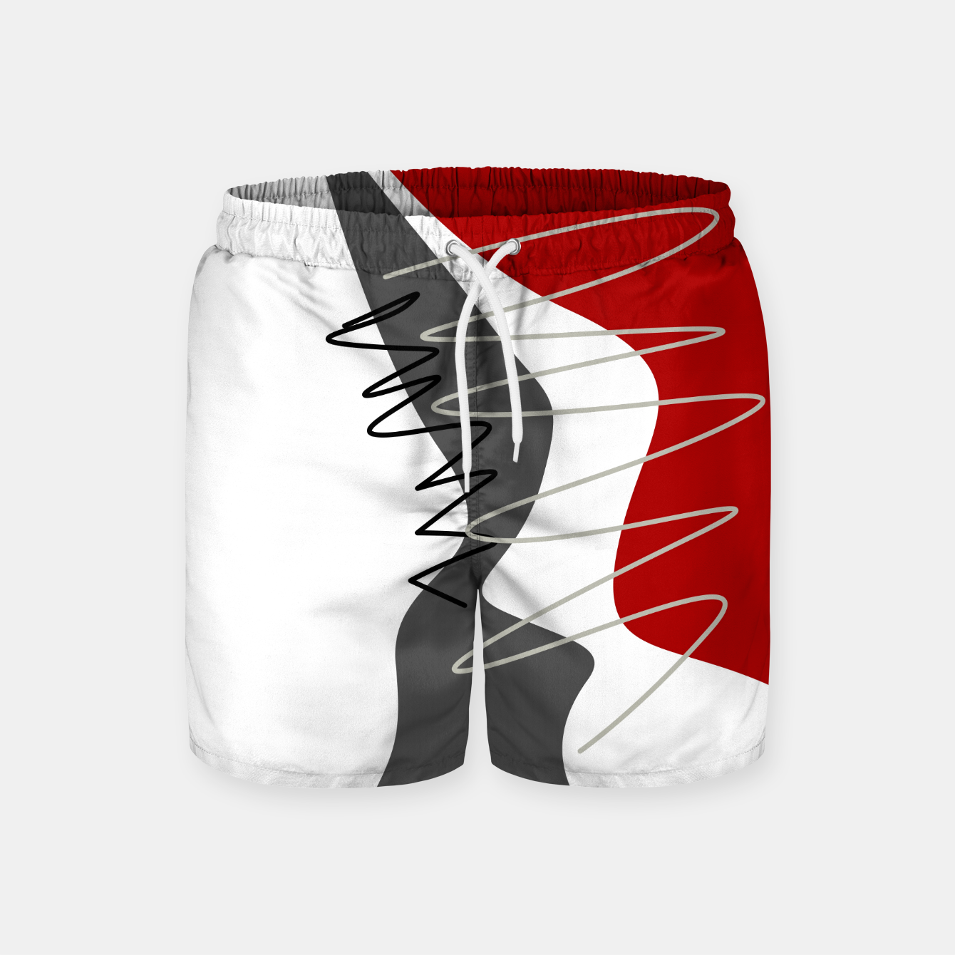 Image of  trendy  multicolored pattern  Swim Shorts - Live Heroes